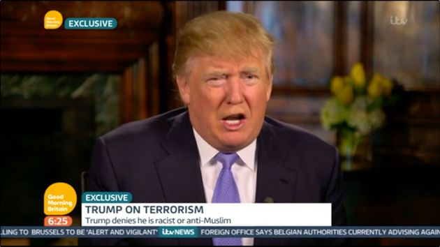 Donald Trump on Good Morning Britain this