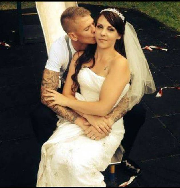 Gemma Wood and her husband Karl on their wedding day, shortly before she was diagnosed with
