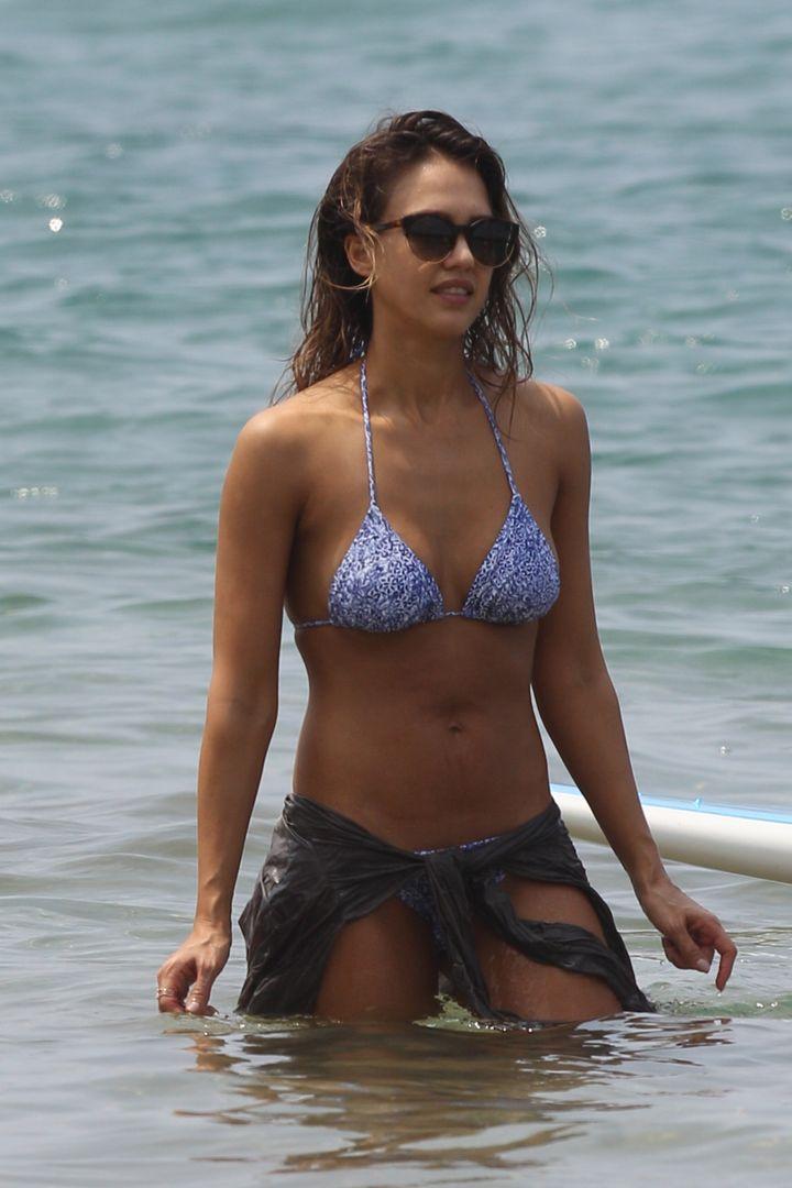 Jessica Alba in Maui.
