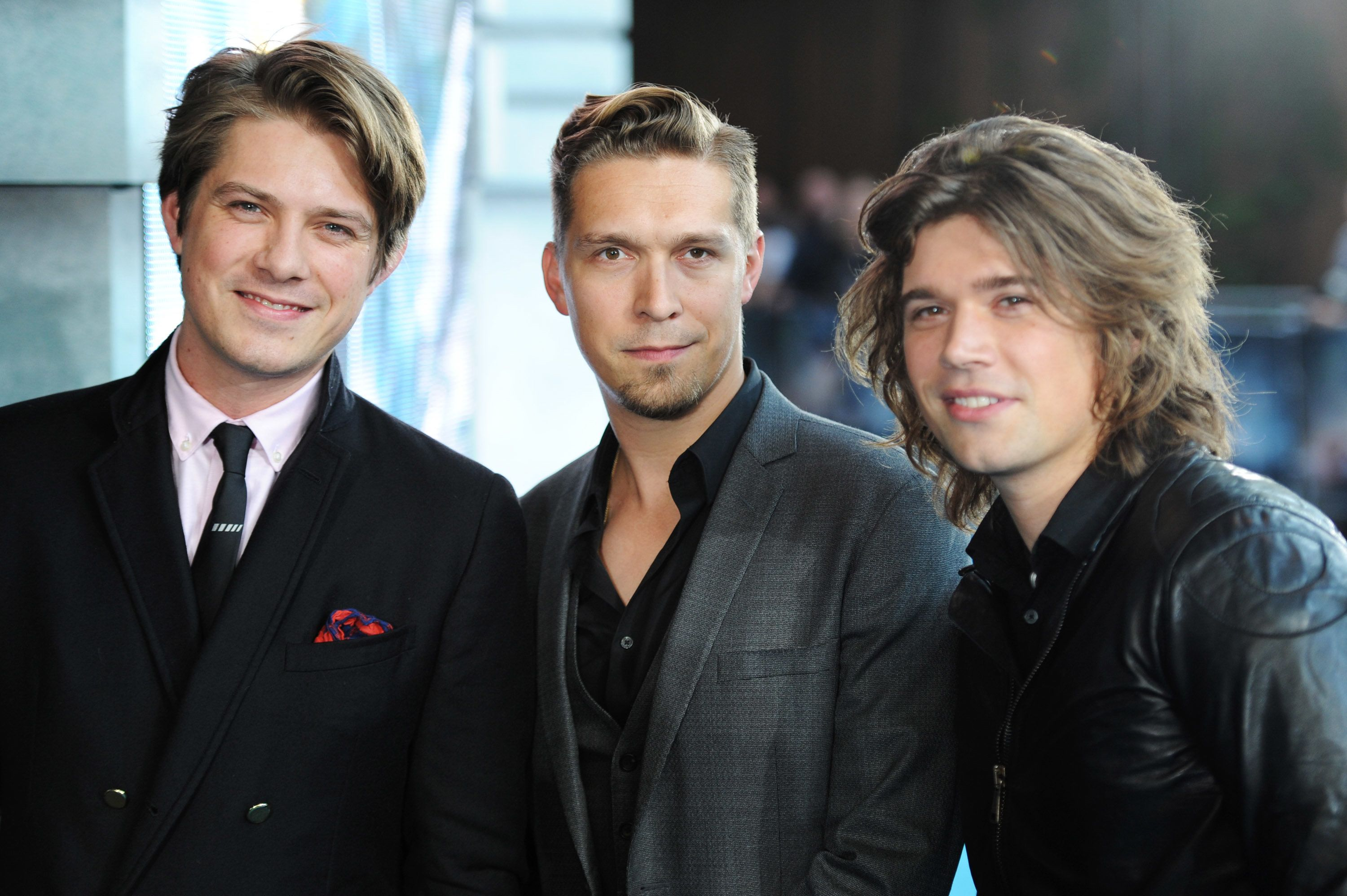 LONDON, ENGLAND - JULY 04:  (UK TABLOID NEWSPAPERS OUT) Zac Hanson, Taylor Hanson and Isaac Hanson of Hanson attend the European premiere of 'Pacific Rim' at The BFI IMAX on July 4, 2013 in London, England.  (Photo by Dave Hogan/Getty Images)