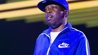 LOS ANGELES, CA - AUGUST 17:  MC Phife Dawg (Malik Taylor) of A Tribe Called Quest performs at 2013 H2O Music Festival at Los Angeles Historical Park on August 17, 2013 in Los Angeles, California.  (Photo by Rodrigo Vaz/FilmMagic)