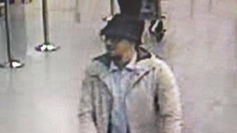 BRUSSELS, BELGIUM - MARCH 22:  In this handout provided by the Belgian Federal Police, a screengrab of the airport CCTV camera shows a suspect from this morning's attacks at Brussels Airport pushing a trolly with suitcases, on March 22, 2016 in Zaventem, Brussels, Belgium. At least 31 people are thought to have been killed after Brussels airport and a Metro station were targeted by explosions. The attacks come just days after a key suspect in the Paris attacks, Salah Abdeslam, was captured in Brussels. (Photo  Belgian Federal Police via Getty Images)