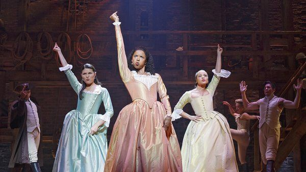 """""""Hamilton's"""" original Schuyler sisters sing about women's rights."""