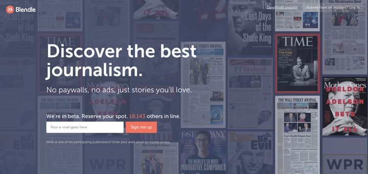 Blendle launched in the U.S. this week with partners like HuffPost, NYT, WaPo and more.