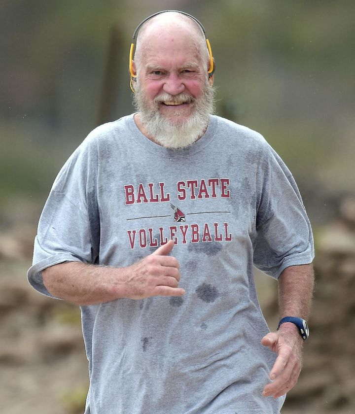 David Letterman, in need of a beard trim.