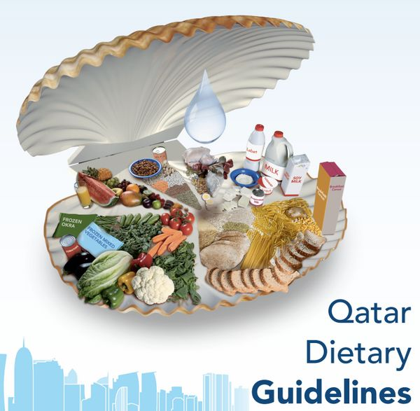 "<a href=""http://www.fao.org/3/a-az908e.pdf"" target=""_blank"">Qatar recommends</a> three to five servings of vegetables and two"