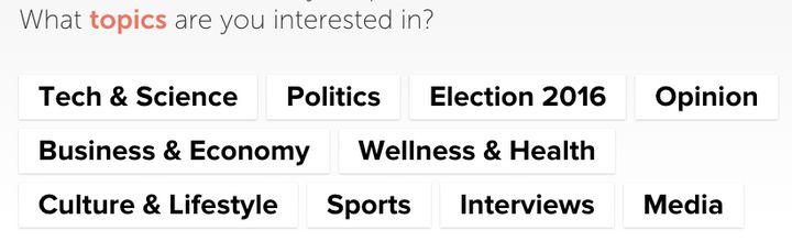 What are your interests? Blendle wants to know.