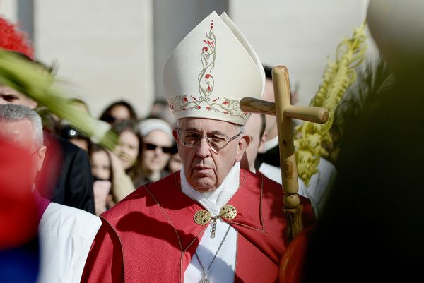Pope Francis beginsthe Holy Week observances in St. Peter's Square, in front of thousands of people,on March 20.