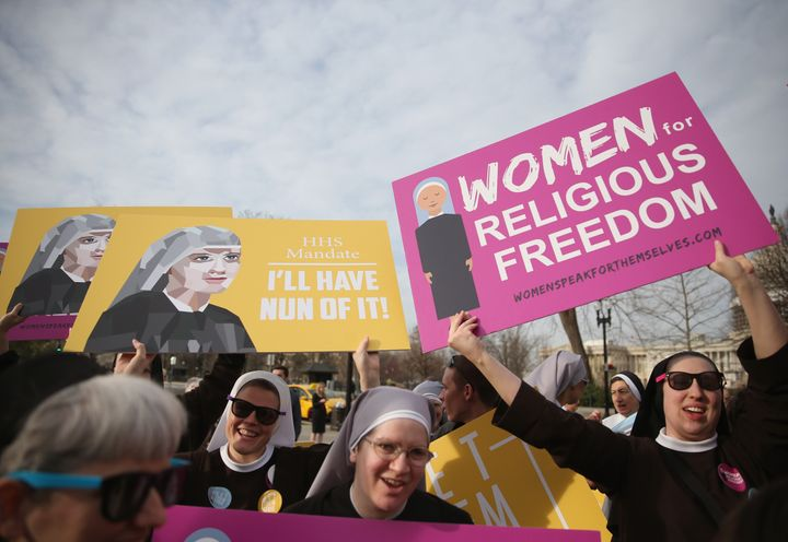 An order of Catholic nuns and other religious nonprofits want the Supreme Court to rule that having to opt out of a cont