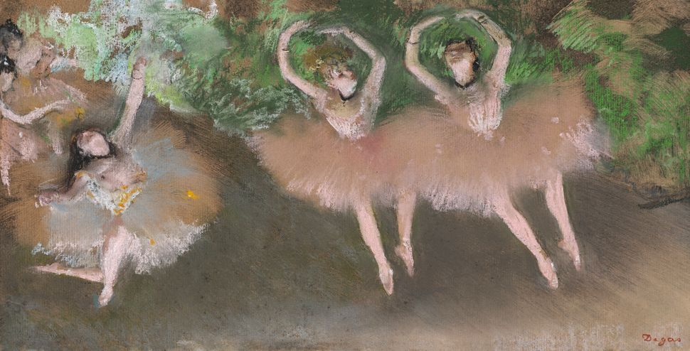<br>Edgar Degas (French, 1834&ndash;1917<i>). </i><i>Ballet Scene</i> <i>(Sc&egrave;ne de ballet),</i> c. 1879. Pastel over m