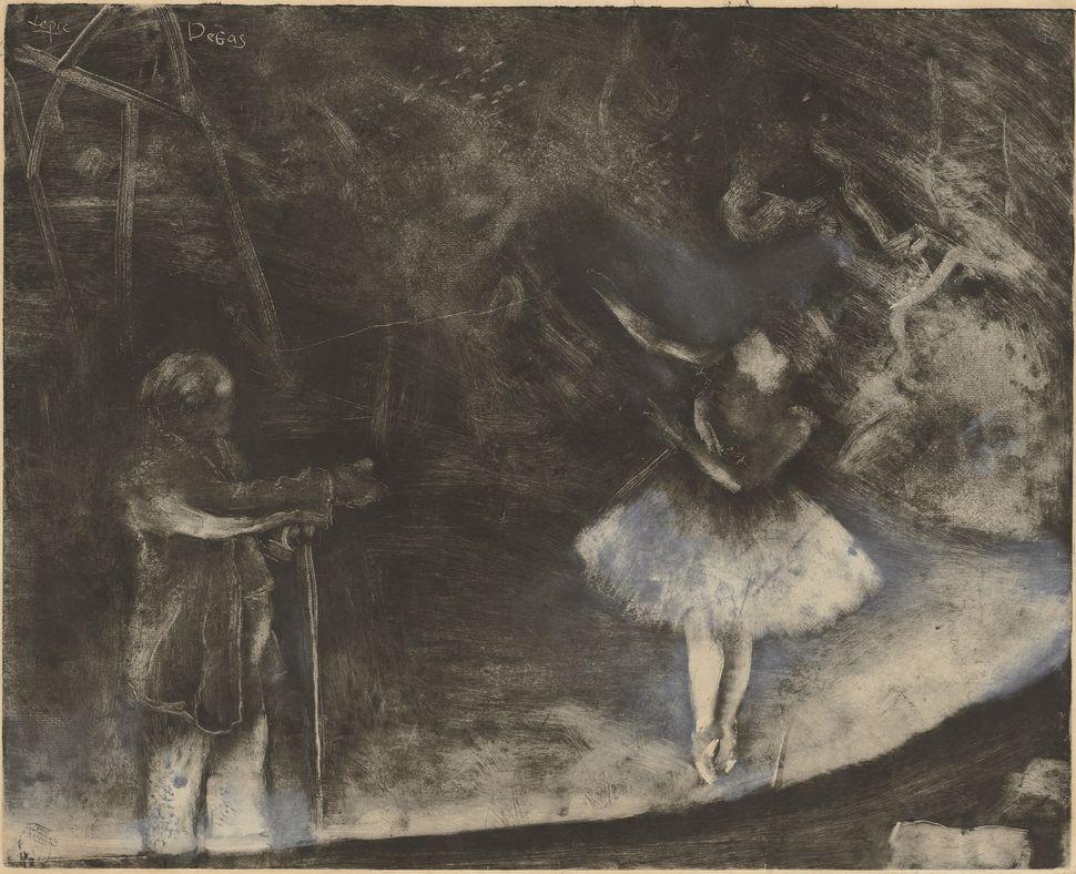 <br>Edgar Degas (French, 1834&ndash;1917). <i>The Ballet Master (Le Ma&icirc;tre de ballet)</i>, c. 1876. White chalk or opaq