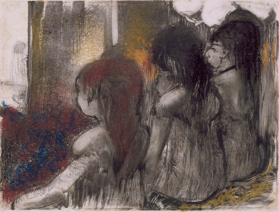 Edgar Degas (French, 1834&ndash;1917). <i>Three Women in a Brothel, Seen from Behind (Trois filles assises de dos)</i>, c. 18