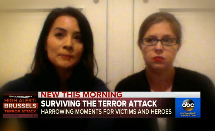 Dr. Laura Billiet and Laura Harper have spoken of how they came to the aid of victims following Tuesday's terror attack in Br
