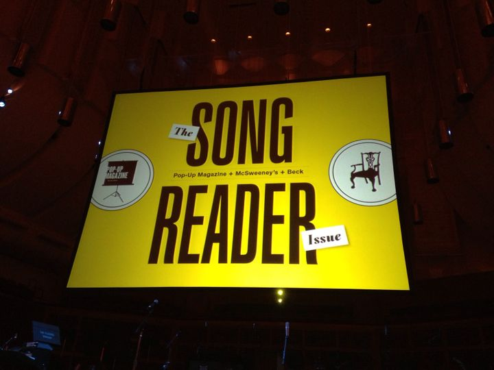 In 2013, Pop-Up Magazine devoted an entire issue to&nbsp;music, inspired by <i>Song Reader</i>, a book of sheet music by Bec