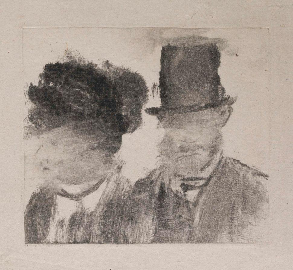 <br>Edgar Degas (French, 1834&ndash;1917). <i>Heads of a Man and a Woman (Homme et femme, en buste)</i>, c. 1877&ndash;80. Mo