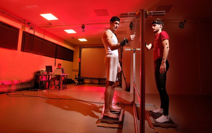 Infrared cameras are used to study body movements at Euromov research center atMontpellier University in France. A new