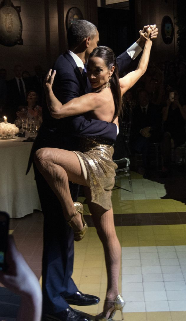 Obama Cuts A Rug To An Argentine