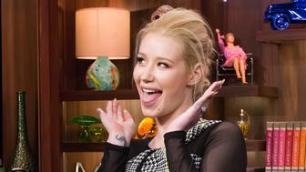 WATCH WHAT HAPPENS LIVE -- Pictured: Iggy Azalea -- (Photo by: Charles Sykes/Bravo/NBCU Photo Bank via Getty Images)
