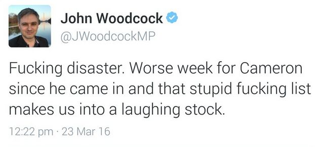 MP John Woodcock Accidentally Offers To Give Voters