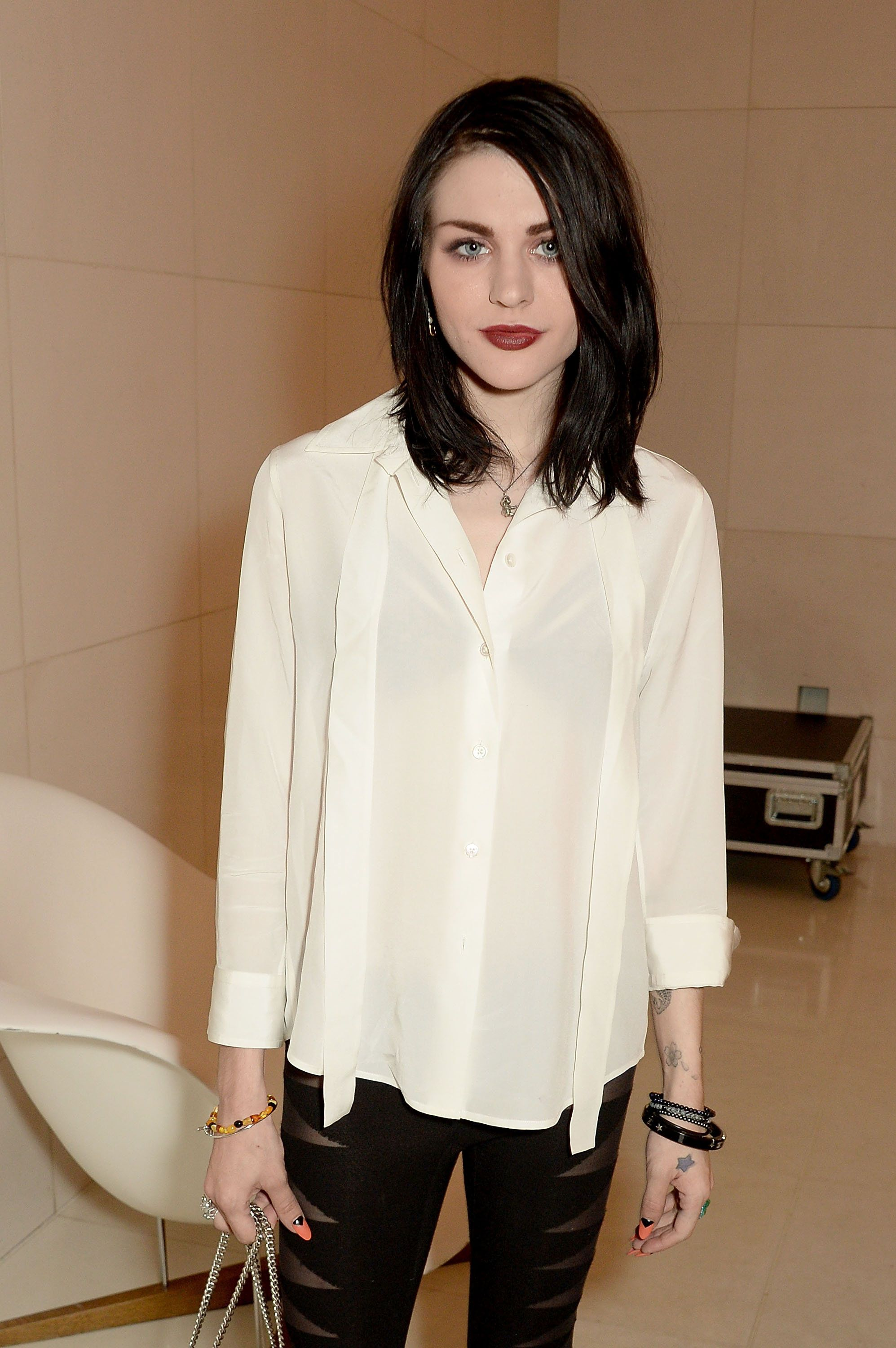 LONDON, ENGLAND - MARCH 21:  Frances Bean Cobain attends a special In Conversation event with Courtney Love as part of the Liberatum 'Women in Creativity' series presented by St Martins Lane on March 21, 2016 in London, England.  (Photo by David M. Benett/Dave Benett/Getty Images)