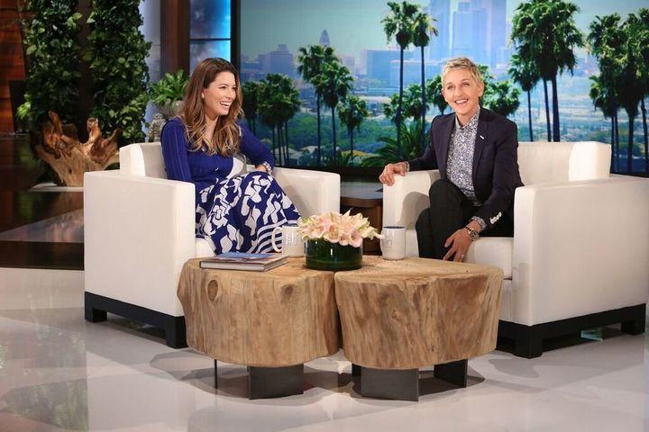 "Jessica Biel on Thursday's episode of ""The Ellen DeGeneres Show."""