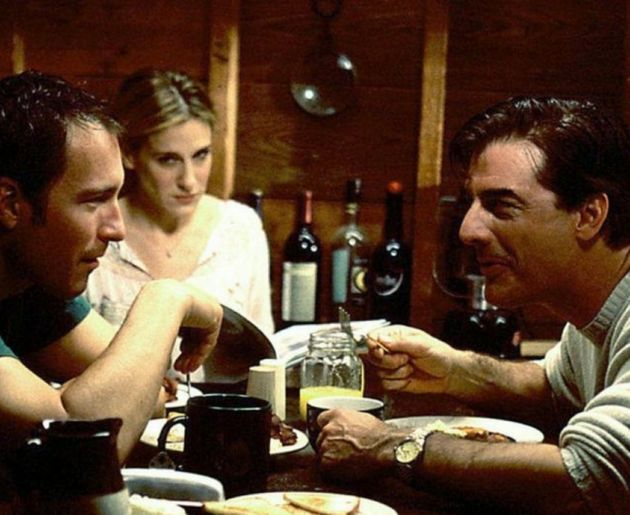 Aidan (John Corbett) and Big (Chris Noth) vied for Carrie's affections during the hit