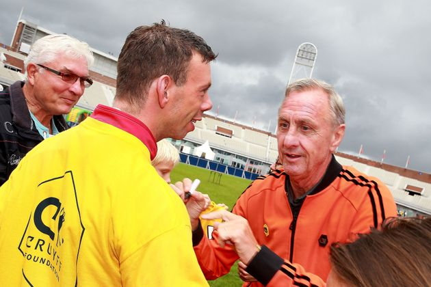 Cruyff during the Open day of the Johan Cruyff foundation on September 23, 2015 at the Olympic stadium...