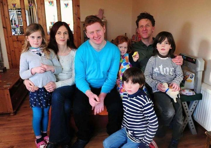 Fiona O'Leary with her husband Tim and their children Dillon, 23, Vito, 11, twins Romy and Sienna, both 8, and Phoebe, 6.