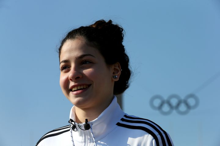 Yusra Mardini, a Syrian refugee who hopes to compete at the Olympic Games in Rio de Janeiro.