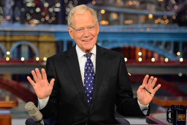 David Letterman on 'The Late Show' looking rather