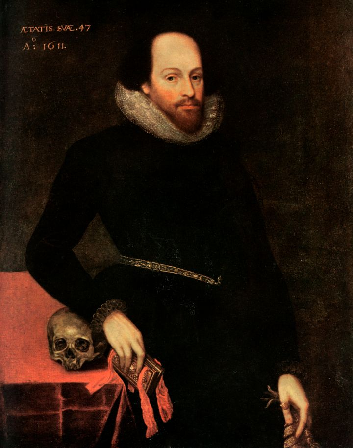 Image result for shakespeare with skull