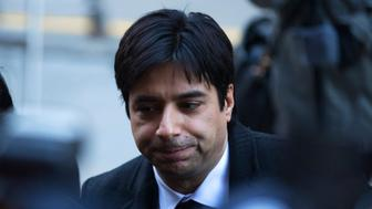 TORONTO, ON - FEBRUARY 1 Jian Ghomeshi arrives at court during the first day of  his trail in Toronto, Ontario.        (Todd Korol/Toronto Star via Getty Images)