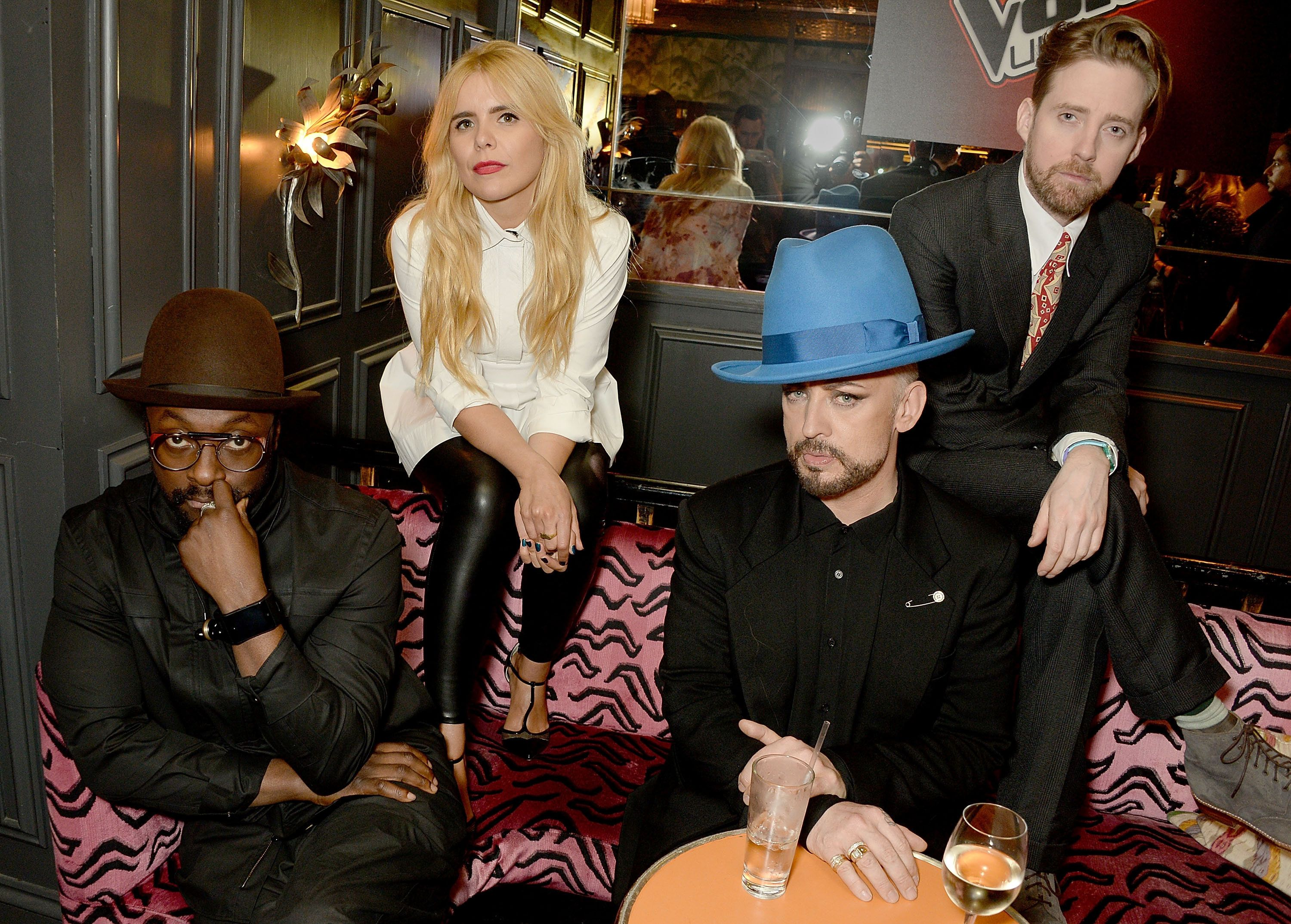 Paloma Faith with 'The Voice' coaches Will.i.am Boy George and Ricky