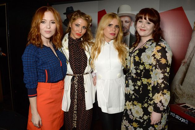 Paloma with her 'The Voice' finalistsAngela Scanlon, Beth Morris and Heather