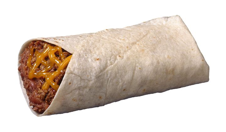 A burrito, not the one used as a weapon during a domestic violence dispute in Florida.