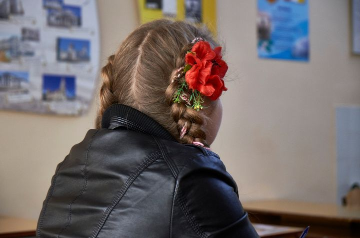 ODESSA, UKRAINE - MAY 05: Children learn the Ukrainian language in the youth center of Odessa on May 05, 2015 in Odessa, Ukra