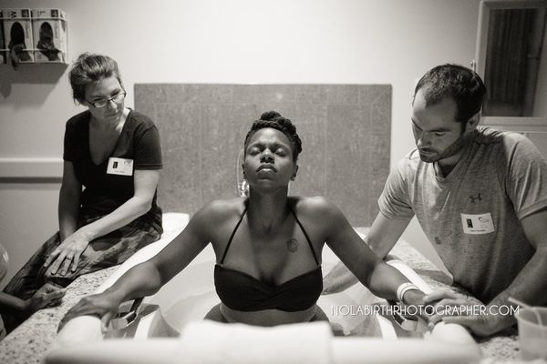 """""""A doula in training witnessing the power of this mother in labor."""""""