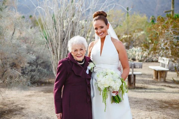 The bride and her grandma looked radiant on the big day!