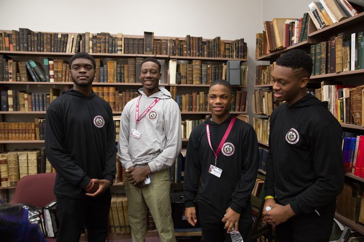 Students (left to right) Bruce Davis, Andrew Brice, Khalil Flemming and Devionne Johnson.
