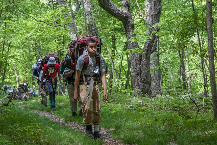 Students backpacking.