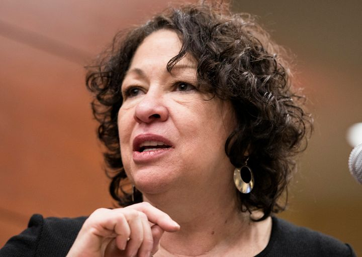 Supreme Court Justice Sonia Sotomayor attempted to correct the record about the Affordable Care Act during oral argument