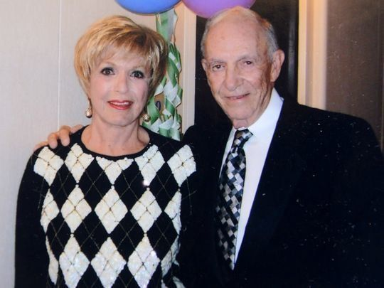 Hartley and Sandy Gaylord at a party in 2005.