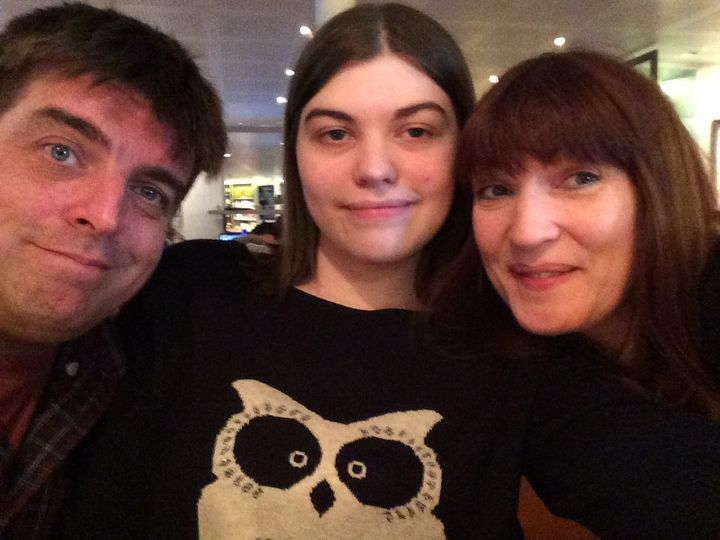 Nicky Clark with her husband Phil and their daughter Lizzy.