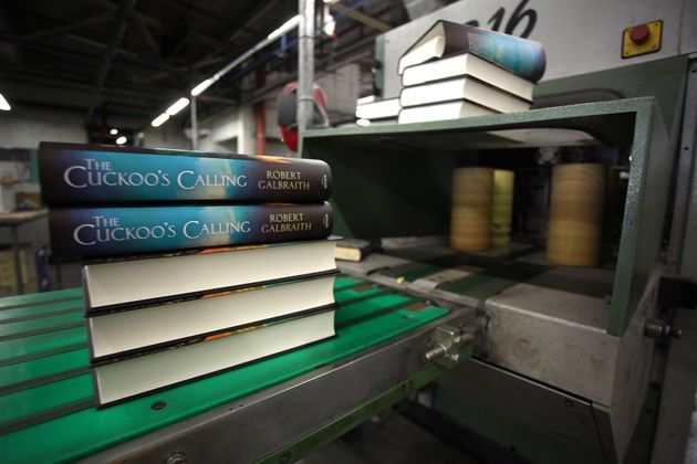 Finished copies of 'The Cuckoo's Calling' come off the print line on July 18, 2013 in Bungay,
