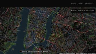 Sound map of New York City.