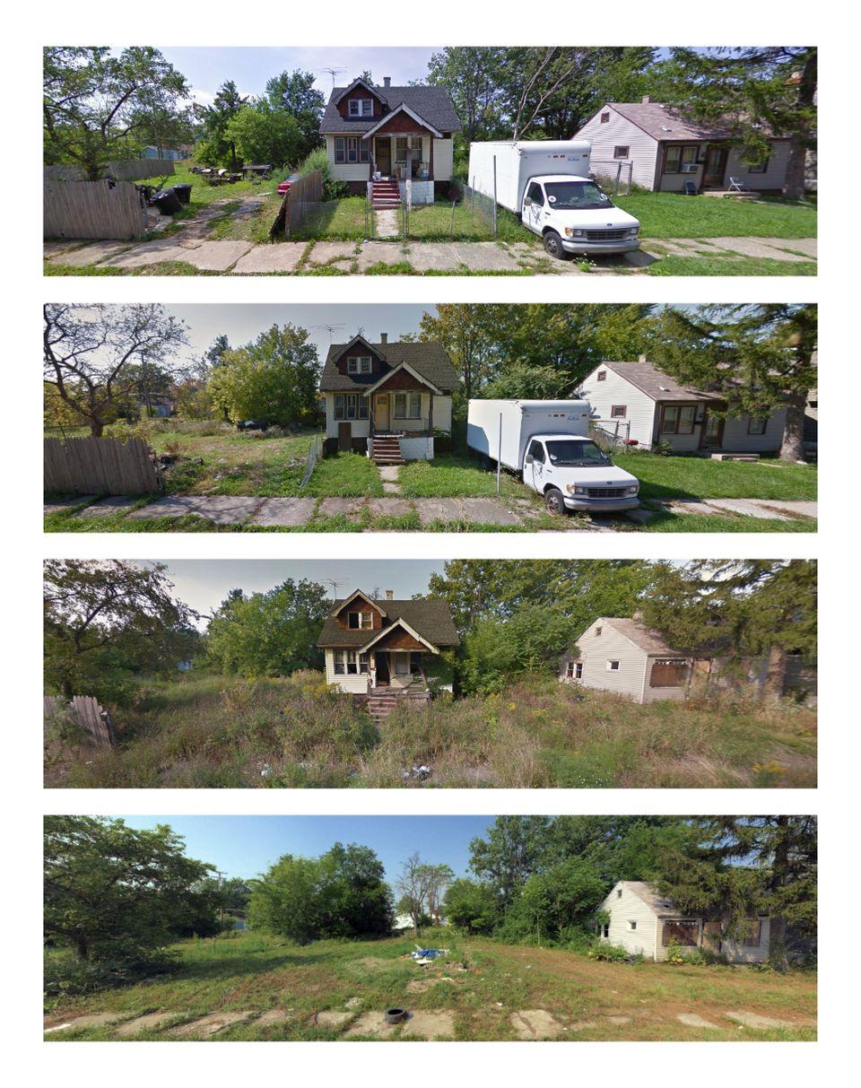 Barham Street in the Morningside neighborhood was captured by Bing and Google in August 2009, October...