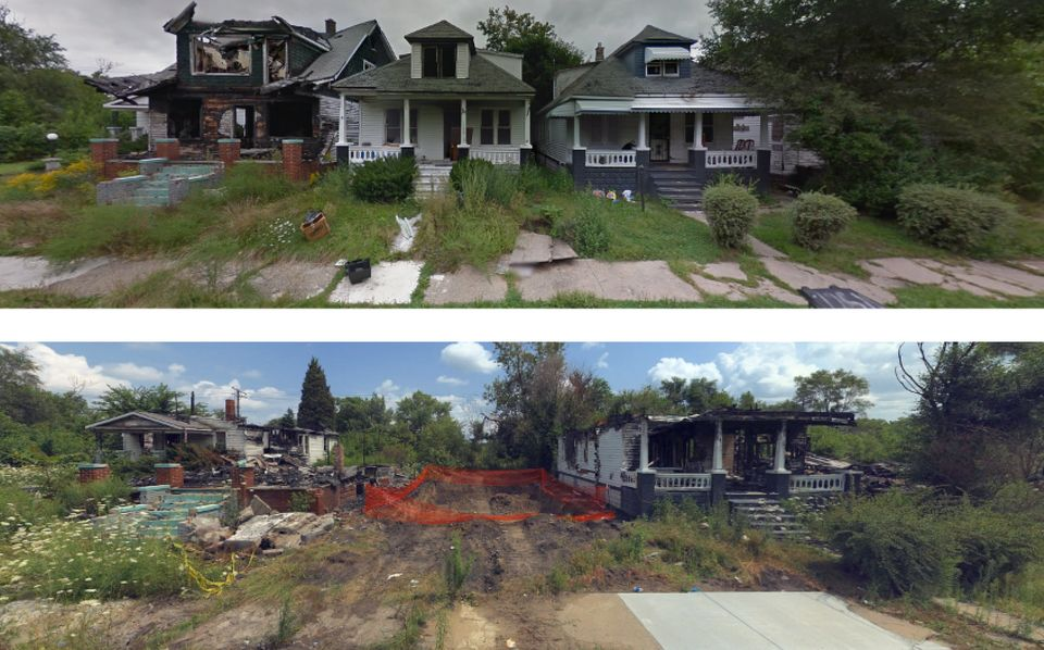 This Mackay Street block isshown in Google and Bing screenshotsfrom September 2013 and August...