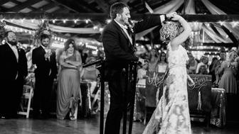 Misti and Kent share their first dance as husband and wife.