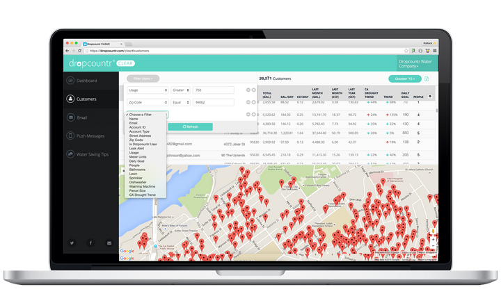Dropcountr, an online and mobile application, can help both customers and utilities better understand water usage. The compan