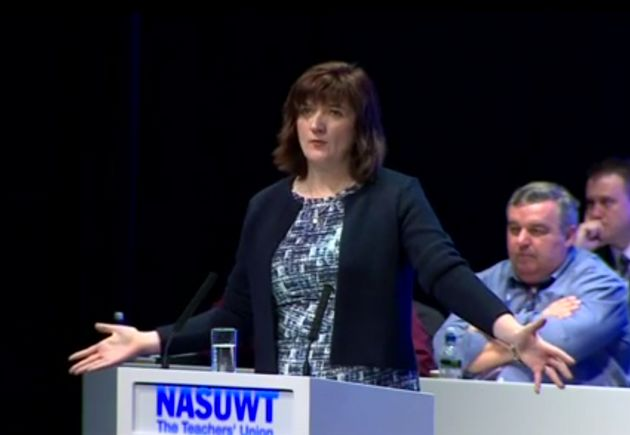 Education Secretary Nicky Morgan was laughed at and heckled at the NSAUWT conference on